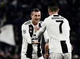 Federico Bernardeschi and Cristiano Ronaldo for Juventus. AFP