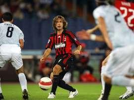 Pirlo se destacou no Milan. AFP