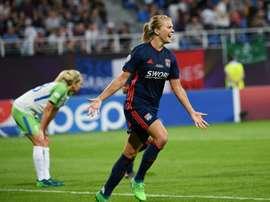 Ada Hegerberg buteuse en finale de la Ligue des champions. AFP
