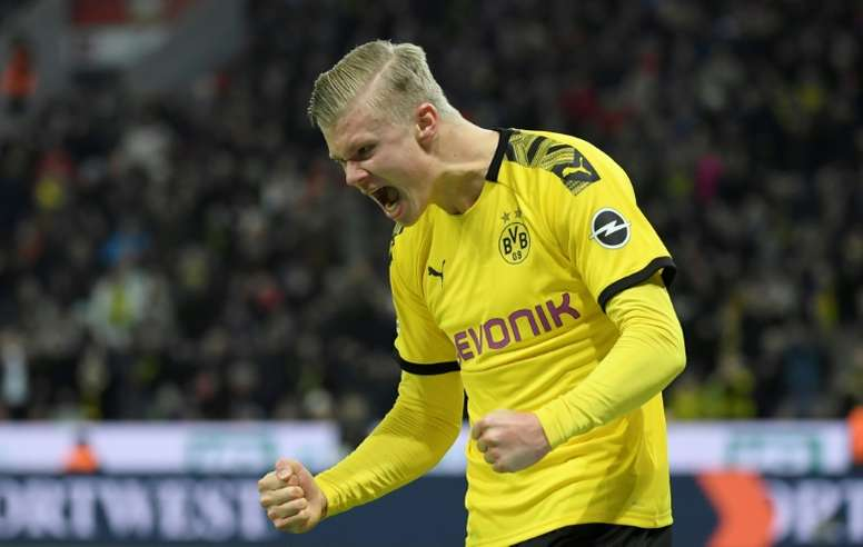 Que Haaland juegue en el Borussia Dortmund no es pura casualidad. AFP