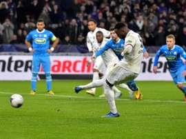 Dembélé fue uno de los goleadores. AFP