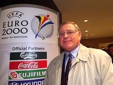 Robert Waseige, à la veille du tirage pour l'Euro 2000. AFP