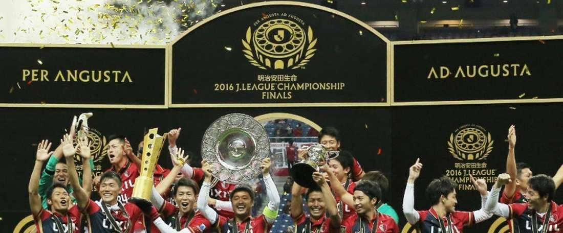 El campeón japonés puso el 2-1 en los últimos compases del partido. AFP