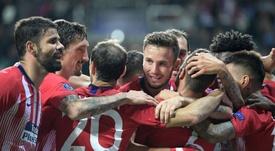 L'Atlético a conquis sa troisième Supercoupe d'Europe. AFP