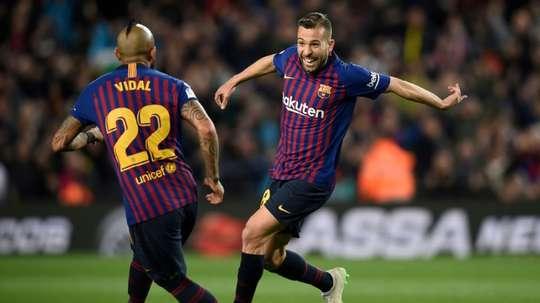 El Barça se acercó al título de Liga. AFP