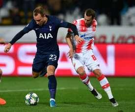 Tottenham corrige Belgrade et entrevoit les huitièmes. AFP