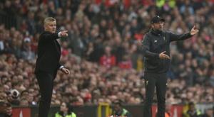 Manchester United - Liverpool: onzes iniciais confirmados. AFP