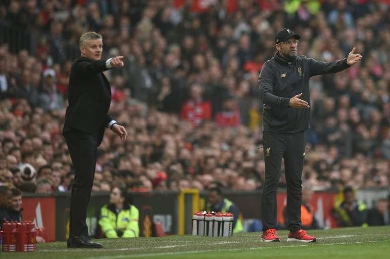 Les compos probables du match de Premier League entre Manchester United et Liverpool. AFP