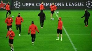 Les joueurs du Slavia Prague placés à l'isolement. afp