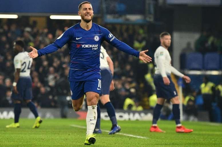 Hazard nel mirino del Real Madrid. AFP