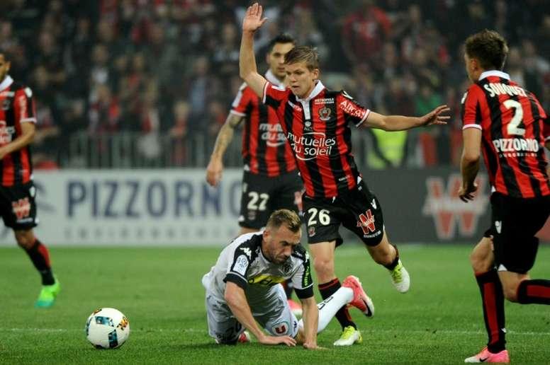 O Troyes bateu o Nice por 1-2. AFP