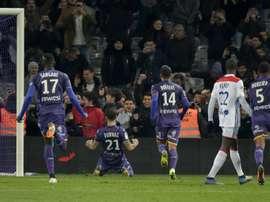 Les compos probables du match de Ligue 1 entre Toulouse et Reims. AFP