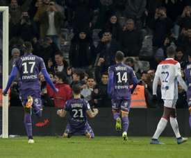 Les compos probables du match de Ligue 1 entre Nîmes et Toulouse. AFP