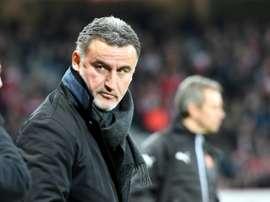 Galtier lors du match face à Rennes. AFP