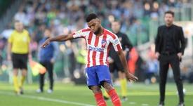 Thomas Lemar, más próximo a salir del Atlético. AFP