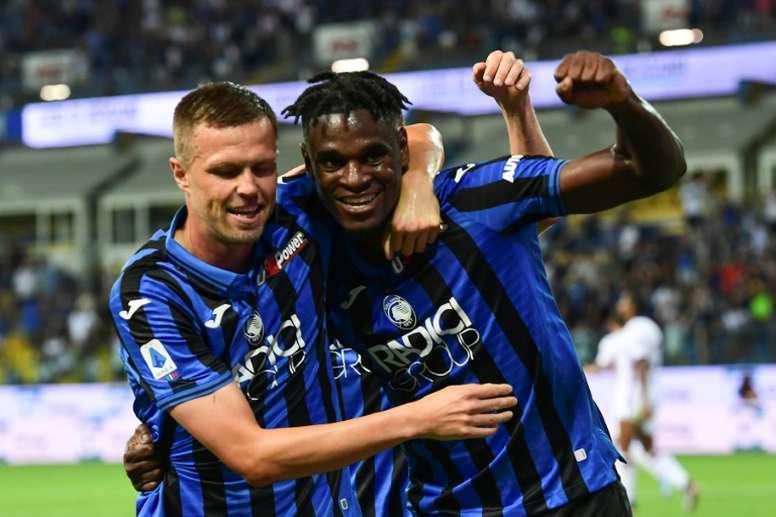 Atalanta marca sete vezes e massacra o Lecce. AFP