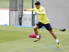 Jouer sans public sera particulier, pour Suarez. AFP