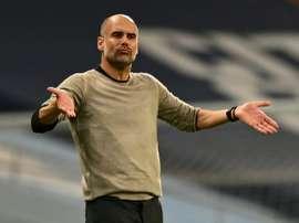 Pep Guardiola projetou o duelo contra o Lyon na véspera da partida. AFP