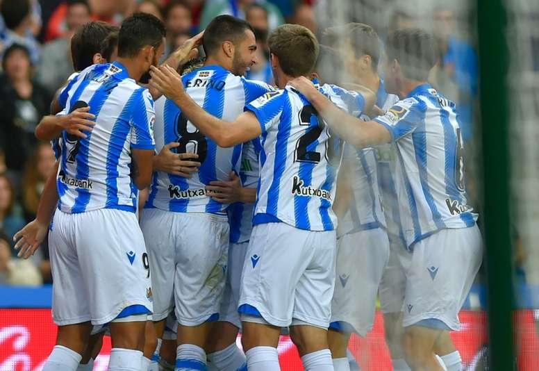 La Real Sociedad accrochée par le dernier mais seule en tête. AFP
