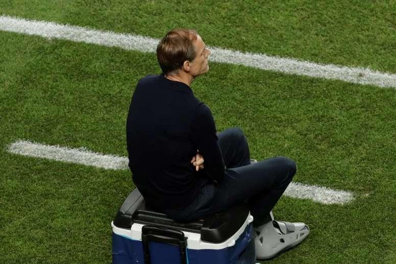 Tuchel vuelve a estar cuestionado tras la derrota ante el United. AFP