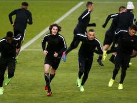 Le PSG à l'entraînement au Camp Nou, le 7 mars 2017, à la veille d'y affronter le Barça. AFP