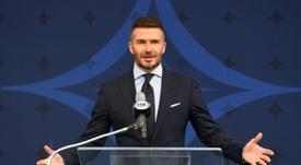 David Beckham empieza a fichar jugadores de manera oficial. AFP