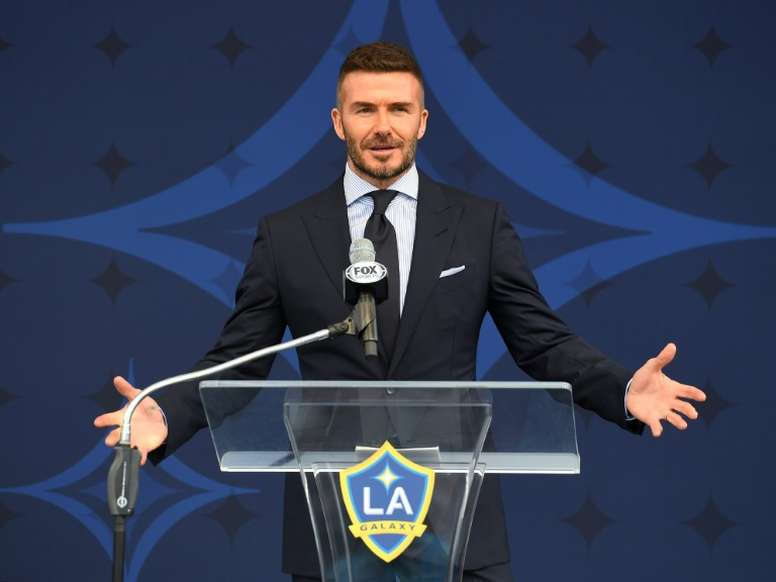 David Beckham começa a contratar jogadores de maneira oficial. AFP