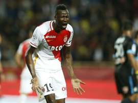 L'attaquant ivoirien Lacina Traoré lors d'un match avec Monaco contre Marseille. AFP