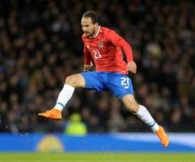 Marcos Ureña espera que Costa Rica haga un buen partido contra Brasil. AFP