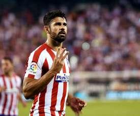 Diego Costa foi substituído por precaução. AFP