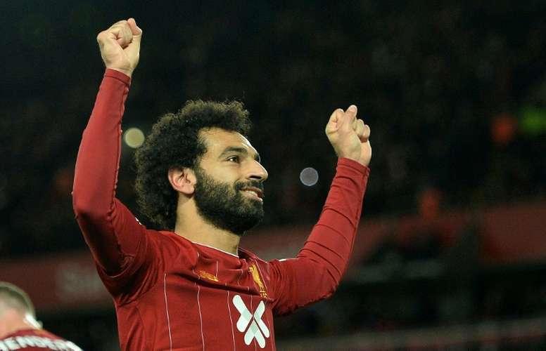 Salah, con problemas en el tobillo. AFP