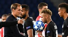 Neymar não joga enquanto não resolver sua situação. AFP