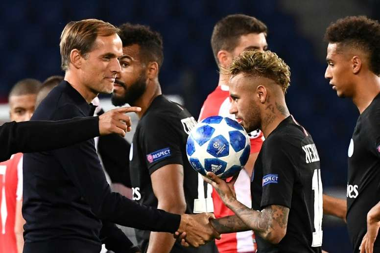 Tuchel says his relationship with Neymar has not been affected. AFP
