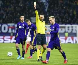 L'arbitre roumain s'est exprimé quant au match aller des barrages. AFP