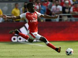 Arsenal's Joel Campell won't be able for some months due to a knee injury. AFP