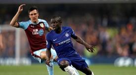 N'Golo Kanté blessé au dos. Goal