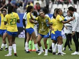 Marta titulaire avec le Brésil contre l'Australie. AFP