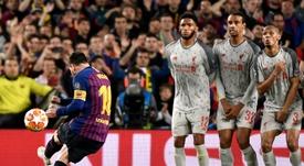 Leo Messi marcó el mejor gol del año en la Champions. AFP