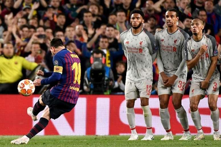 Alexander-Arnold se deshizo en elogios hacia Messi. AFP