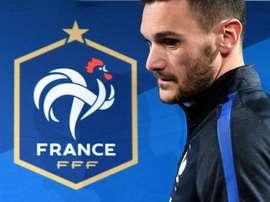 Le gardien et capitaine des Bleus en conférence de presse au Stade de France, le 9 octobre 2017. AFP