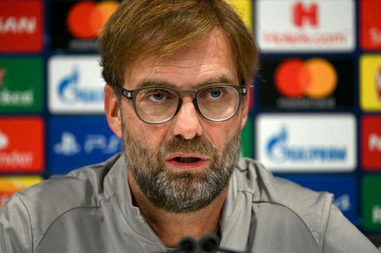 Klopp foi perguntado sobre as palavras de Guardiola sobre Sadio Mané. AFP