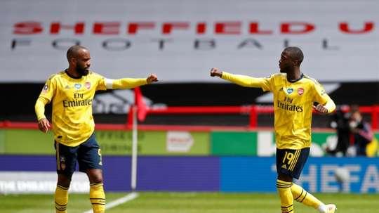 Le formazioni ufficiali di Arsenal-Leicester. AFP