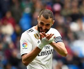 Benzema has increased his goalscoring tally this season. AFP