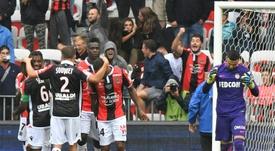 Le gardien Danijel Subasic s'incline avec Monaco devant une équipe de Nice euphorique. AFP