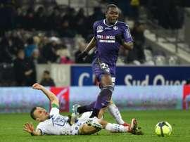 Le milieu du TFC Giannelli Imbula contre Troyes. AFP