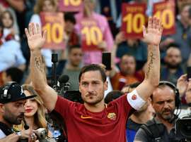 Francesco Totti déclare sa flamme à l'AS Roma. AFP