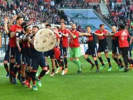 Bayern e Mönchengladbach, oponentes neste sábado. AFP
