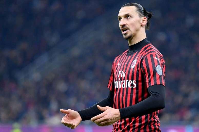 Ibrahimovic recibió los elogios de Christian Vieri. AFP