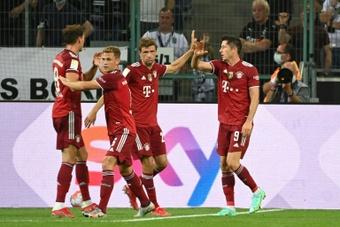 El tricentenario goleador de Lewandowski con el Bayern. AFP