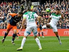 Montpellier, victorieux de Saint-Etienne, reprend la 5ème place. AFP